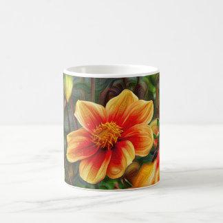 Flores de DeepDream Taza Clásica