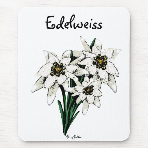 Flores de Edelweiss Tapetes De Ratones