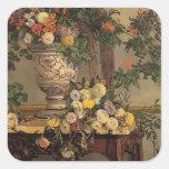Flores de Federico Bazille- Calcomania Cuadrada Personalizada