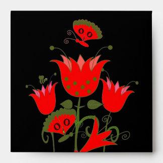 Flores de Forrest del rojo 2 del sobre