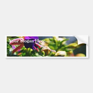 Flores de Fuschias Etiqueta De Parachoque