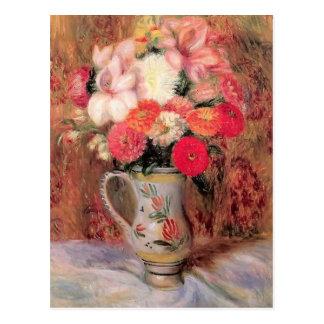 Flores de Guillermo Glackens- en una jarra de Quim Tarjetas Postales