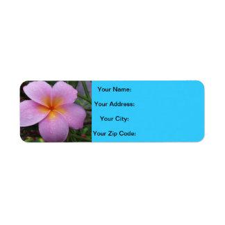 Flores de Hawaii de la bahía de Hanauma Etiqueta De Remite