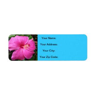 Flores de Hawaii de la bahía de Hanauma Etiquetas De Remite