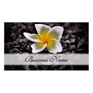 Flores de Hawaii del Frangipani del Plumeria Tarjetas De Visita