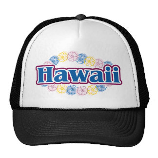 Flores de Hawaii Gorras