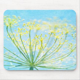 Flores de hinojo amarillas en el cojín de ratón az tapetes de ratón