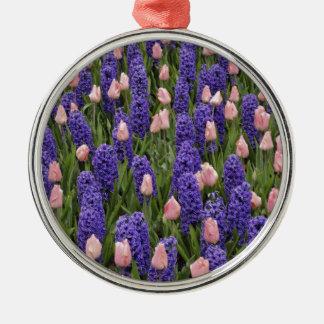 Flores de Holanda de jacintos y de tulipanes rosa Ornamentos De Reyes Magos