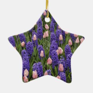 Flores de Holanda de jacintos y de tulipanes rosa Ornamentos Para Reyes Magos