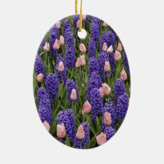 Flores de Holanda de jacintos y de tulipanes rosa Ornato