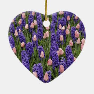 Flores de Holanda de jacintos y de tulipanes rosa Ornatos