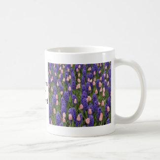 Flores de Holanda de jacintos y de tulipanes rosa Taza De Café