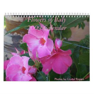 Flores de Italia Calendario De Pared