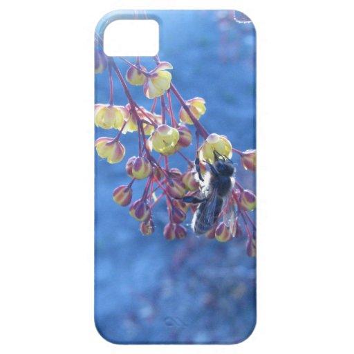 Flores de la abeja y del Berberis iPhone 5 Carcasa