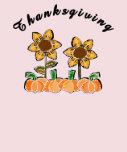Flores de la acción de gracias camisetas