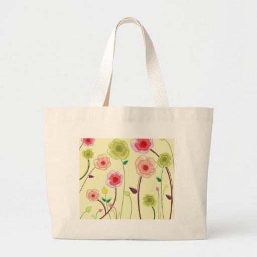 Flores de la acuarela bolsas