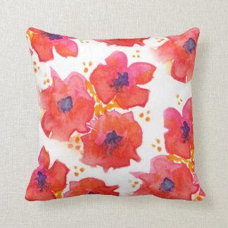 Flores de la acuarela almohadas