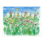 Flores de la acuarela de Coneflower de las Postales
