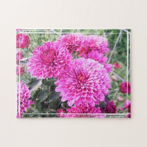 flores de la acuarela puzzle con fotos