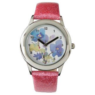 Flores de la acuarela relojes de mano