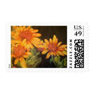 Flores de la acuarela sellos