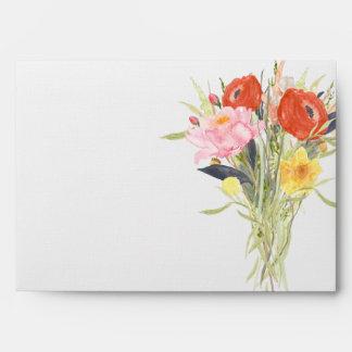 Flores de la acuarela sobres