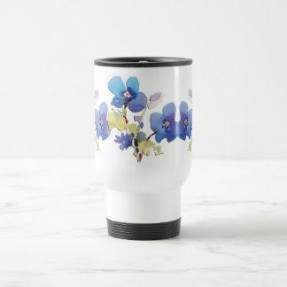 Flores de la acuarela taza de viaje de acero inoxidable