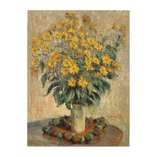 Flores de la alcachofa de Claude Monet Jerusalén Cuadros De Madera