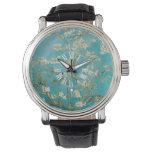 Flores de la almendra de PixDezines Van Gogh Relojes De Mano