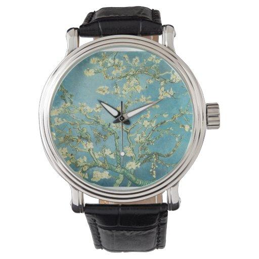 Flores de la almendra de Van Gogh Relojes