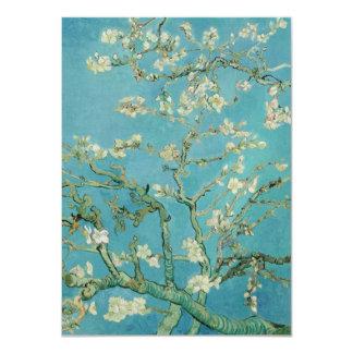 """Flores de la almendra de Vincent van Gogh Invitación 4.5"""" X 6.25"""""""