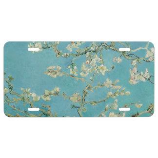 Flores de la almendra de Vincent van Gogh Placa De Matrícula