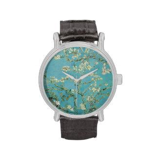 Flores de la almendra de Vincent van Gogh Relojes De Mano