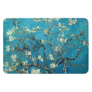 Flores de la almendra iman rectangular