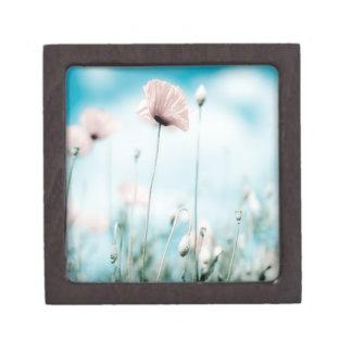 Flores de la amapola cajas de regalo de calidad
