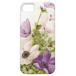 Flores de la anémona del vintage iPhone 5 Case-Mate protector