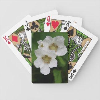 Flores de la baya cartas de juego