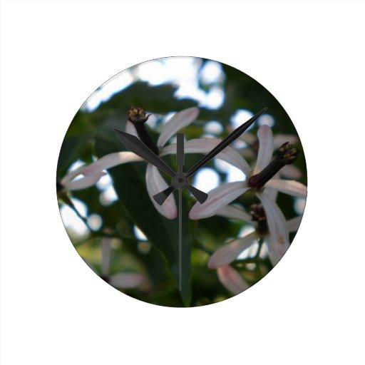Flores de la baya de China Reloj De Pared