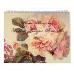 Flores de la bella arte de Paul de Longpre Calendarios De Pared