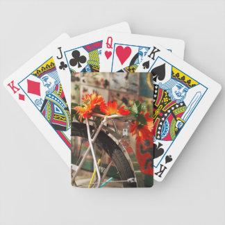 Flores de la bicicleta baraja cartas de poker