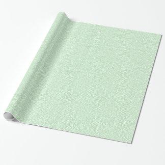 Flores de la cabaña del vintage en verde papel de regalo