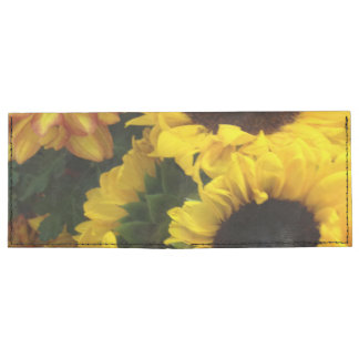 Flores de la caída del girasol billeteras tyvek®