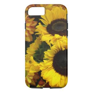 Flores de la caída del girasol funda iPhone 7