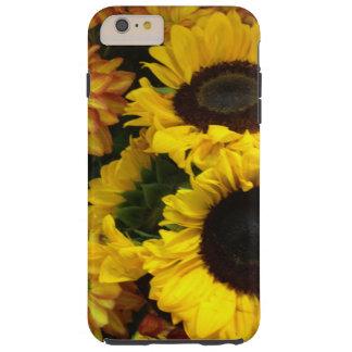 Flores de la caída del girasol funda resistente iPhone 6 plus