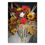 flores de la caída tarjeta de felicitación