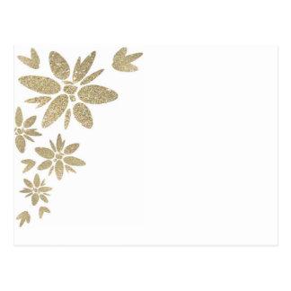 Flores de la chispa del oro del producto del tarjeta postal