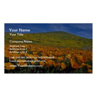 Flores de la colina de la amapola tarjetas de visita