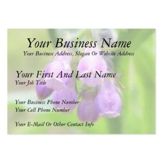 Flores de la consuelda tarjetas de negocios