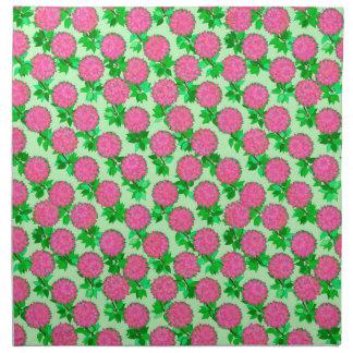 Flores de la dalia en rosa fucsia servilletas de papel