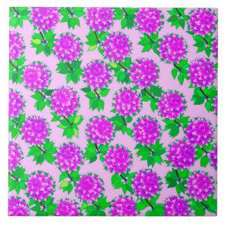 Flores de la dalia en violeta y orquídea azulejo ceramica